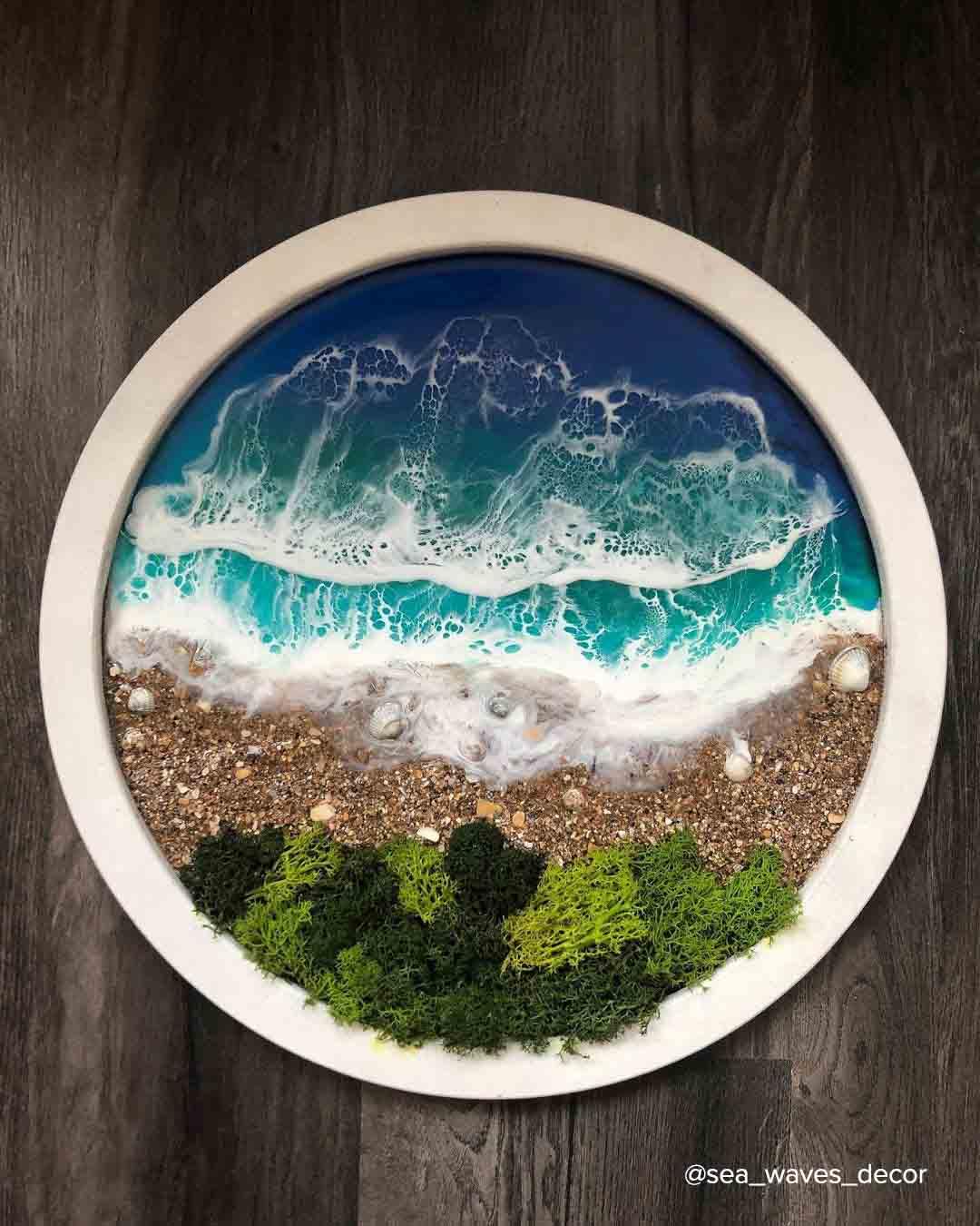 Как нарисовать море эпоксидной смолой?