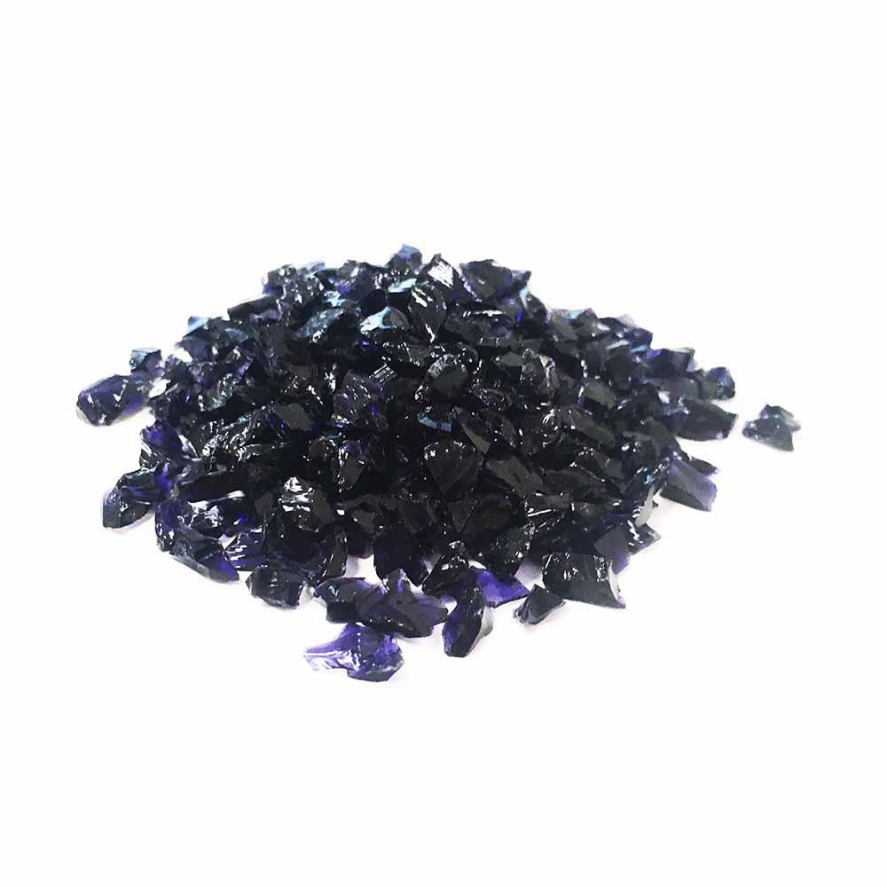 Стеклянная крошка чёрно-фиолетового цвета