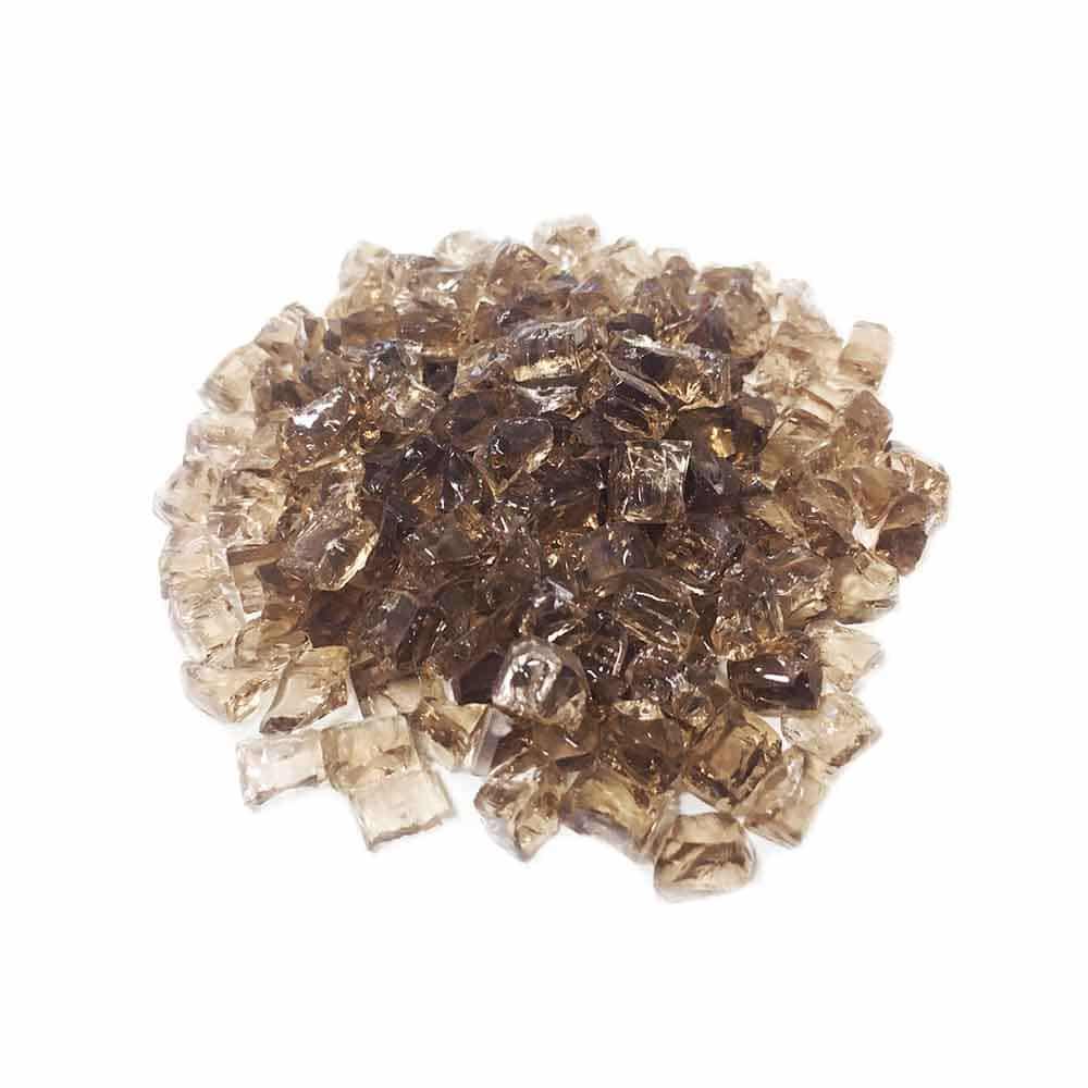 Стеклянная крошка коричневого цвета